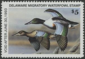 Scan of 1992 Delaware Duck Stamp