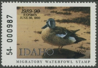 Scan of 1989 Idaho Duck Stamp