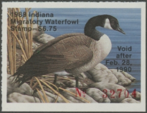 Scan of 1989 Indiana Duck Stamp