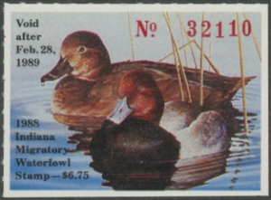 Scan of 1988 Indiana Duck Stamp