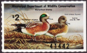 Scan of 1986 Mississippi Duck Stamp