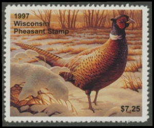 Scan of 1997 Wisconsin Pheasant Stamp