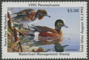 Scan of 1991 Pennsylvania Duck Stamp