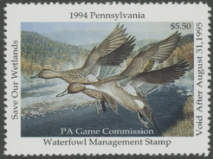 Scan of 1994 Pennsylvania Duck Stamp
