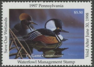 Scan of 1997 Pennsylvania Duck Stamp