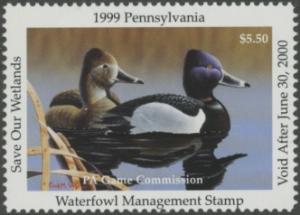 Scan of 1999 Pennsylvania Duck Stamp