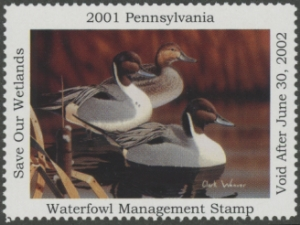 Scan of 2001 Pennsylvania Duck Stamp