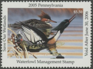 Scan of 2005 Pennsylvania Duck Stamp