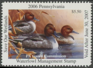 Scan of 2006 Pennsylvania Duck Stamp