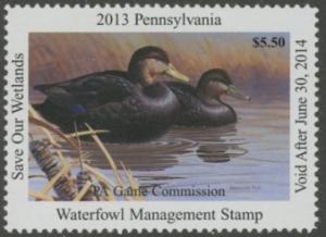 Scan of 2013 Pennsylvania Duck Stamp