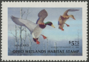 Scan of 1983 Ohio Duck Stamp