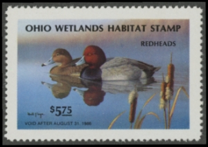 Scan of 1985 Ohio Duck Stamp