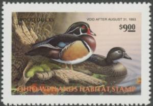 Scan of 1992 Ohio Duck Stamp