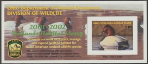 Scan of 2001 Ohio Duck Stamp