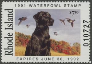 Scan of 1991 Rhode Island Duck Stamp MNH VF