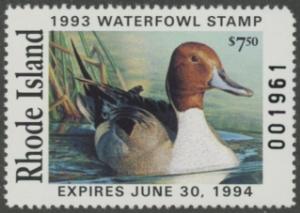Scan of 1993 Rhode Island Duck Stamp