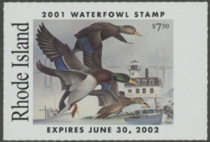 Scan of 2001 Rhode Island Duck Stamp