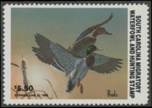 Scan of 1982 South Carolina Duck Stamp