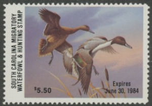 Scan of 1983 South Carolina Duck Stamp