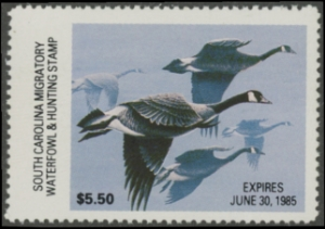 Scan of 1984 South Carolina Duck Stamp