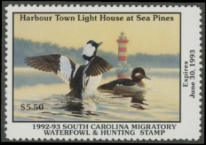 Scan of 1992 South Carolina Duck Stamp
