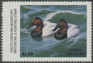 Scan of 1986 South Carolina Duck Stamp