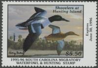 Scan of 1995 South Carolina Duck Stamp