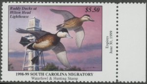 Scan of 1998 South Carolina Duck Stamp