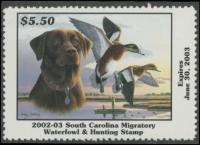 Scan of 2002 South Carolina Duck Stamp