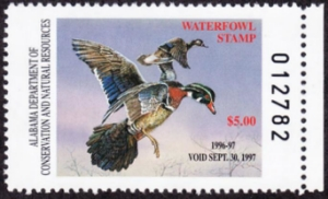 Scan of 1996 Alabama Duck Stamp