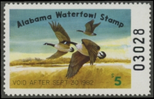 Scan of 1981 Alabama Duck Stamp