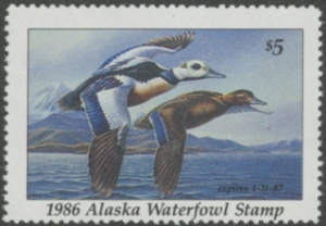 Scan of 1986 Alaska Duck Stamp