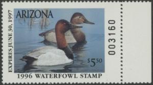 Scan of 1996 Arizona Duck Stamp