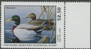 Scan of 1994 Maine Duck Stamp