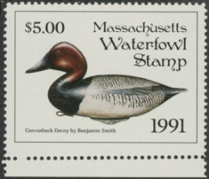 Scan of 1991 Massachusetts Duck Stamp