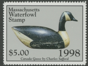 Scan of 1998 Massachusetts Duck Stamp