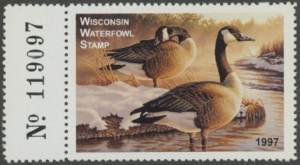 Scan of 1997 Wisconsin Duck Stamp