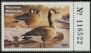 Scan of 1997 Wisconsin Duck Stamp
