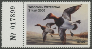 Scan of 2000 Wisconsin Duck Stamp