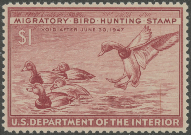 Scan of RW13 1946 Duck Stamp