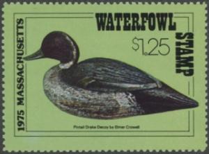 Scan of 1975 Massachusetts Duck Stamp