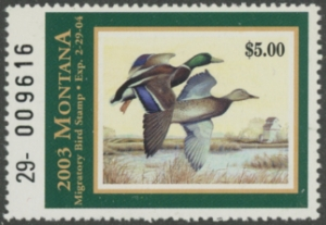 Scan of 2003 Montana Duck Stamp