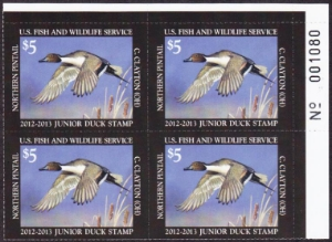 Scan of JDS20 2012 Junior Duck Stamp PB