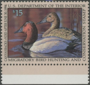 Scan of RW60 1993 Duck Stamp  MNH VF