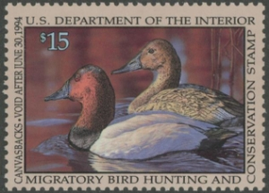 Scan of RW60 1993 Duck Stamp