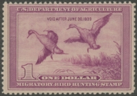 Scan of RW5 1938 Duck Stamp