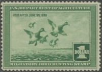 Scan of RW4 1937 Duck Stamp