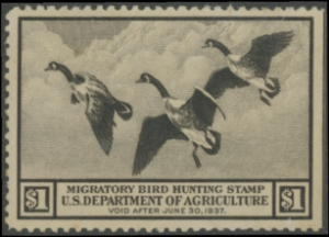 Scan of RW3 1936 Duck Stamp