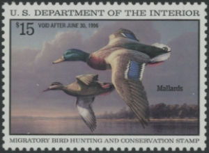 Scan of RW62 1995 Duck Stamp Grade 98