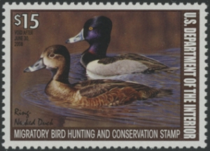 Scan of RW74 2007 Duck Stamp Grade 98